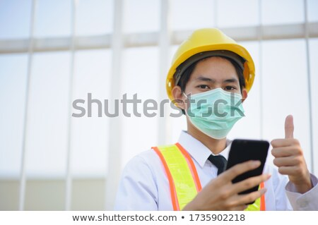 foreman in construction site making a call Stock photo © photography33