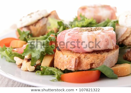 хлеб Сыр из козьего молока бекон ресторан Салат Сток-фото © M-studio