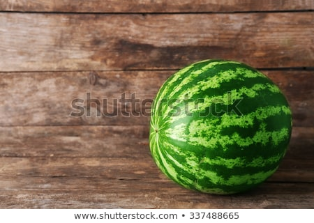 fresh watermelon on a  wood table Stock photo © keko64