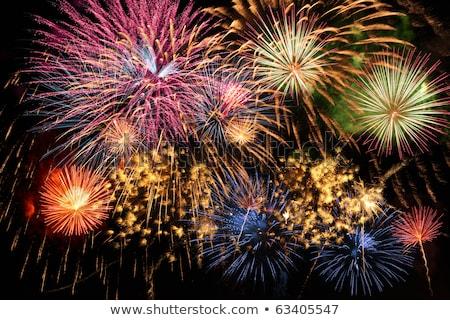 ano · novo · fogos · de · artifício · exibir · ano · celebração · fundo - foto stock © ozaiachin