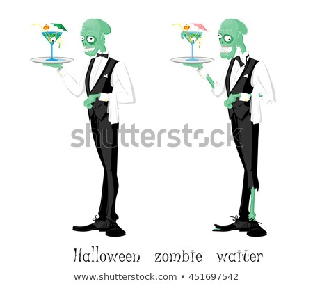 Funny Monster. Waiter. Stock photo © RAStudio