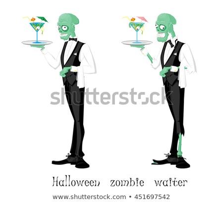 Funny Monster. Waiter. Stock photo © RAStudio