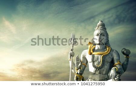 Shiva ídolo enorme templo mar oceano Foto stock © ziprashantzi