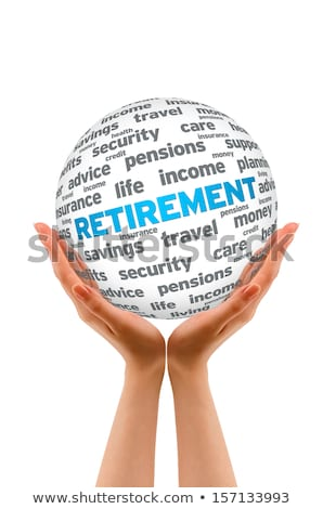 hand holding a retirement 3d sphere stock photo © kbuntu