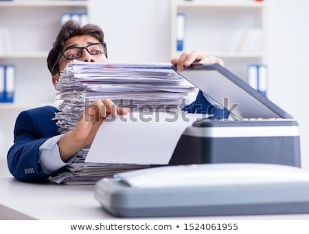 Laser machine business kantoor papier Stockfoto © vladacanon