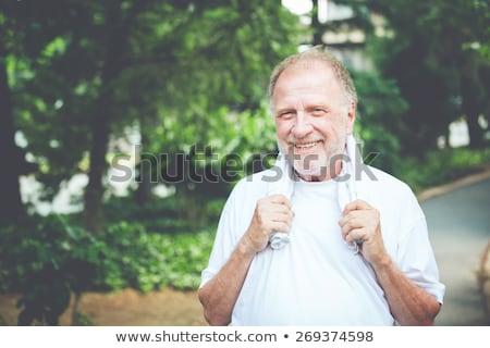 Düzenli adam yakışıklı beyaz gülümseme adam Stok fotoğraf © lisafx