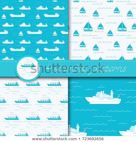cargo ship of dry bulk carrier with four cranes stock photo © experimental