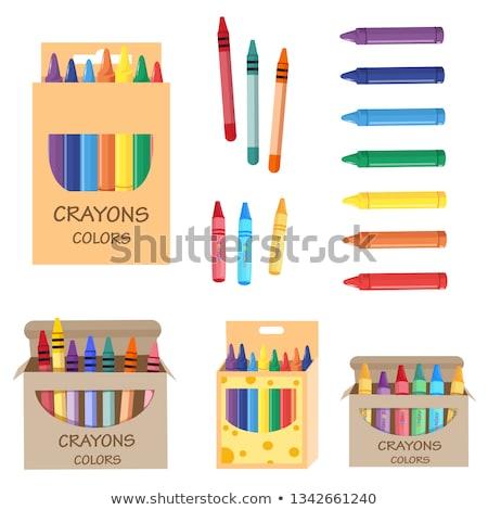 conjunto · giz · de · cera · vetor · ilustrações · escolas - foto stock © meshaq2000