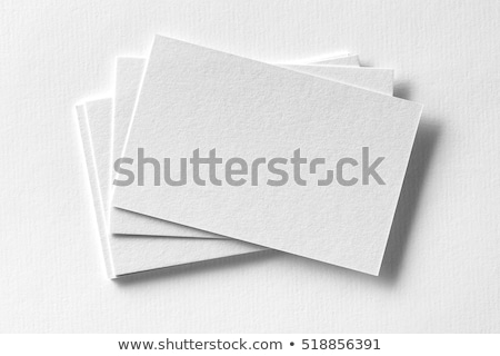Blanche papier carte de visite design imprimer entreprise Photo stock © blotty
