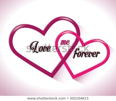 tarjeta · aniversario · felicitación · corazones · amor · moda - foto stock © marimorena