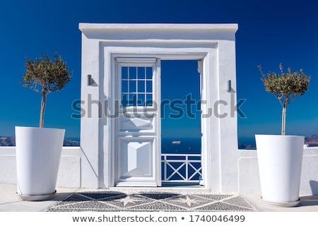 Wooden gate on Santorini stock photo © sophie_mcaulay