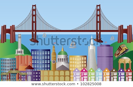 Bay Bridge and Ferry Terminal San Francisco California Stock photo © billperry