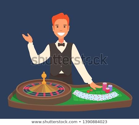 roulette · handelaar · afbeelding · casino · grijs · lay-out - stockfoto © wavebreak_media