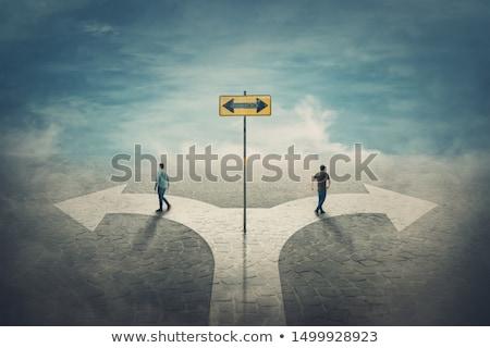 Entscheidung Kreuzung Auswahl richtig Weg weg Stock foto © Lightsource