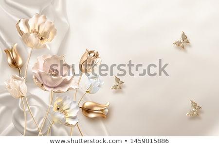 drie · zijde · rozen · Blauw · witte · verjaardag - stockfoto © yul30