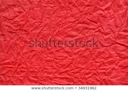 Crushed red paper texture Stock photo © shutswis