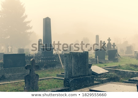 Beautiful autumn in the graveyard Stock photo © Julietphotography