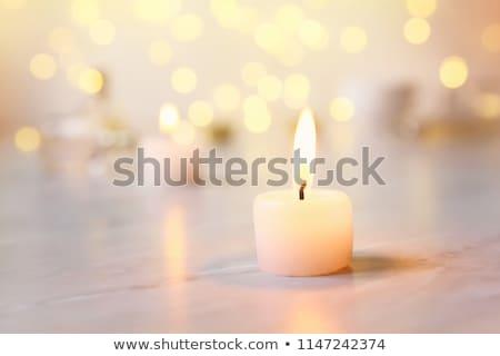 Duchowe świece przy świecach religijnych ceremonia tradycja Zdjęcia stock © Lightsource