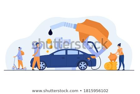 Megtankol kéz tart benzinpumpa autó fekete Stock fotó © pedrosala