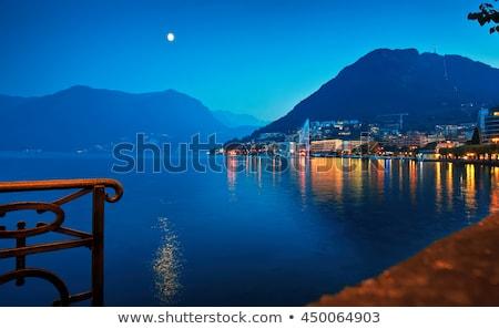 Fonte Suíça água arquitetura parque dia Foto stock © dacasdo