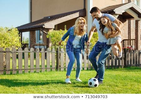family in yard Stock photo © Paha_L
