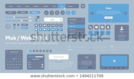 веб меню интернет зеленый синий черный Сток-фото © carbouval