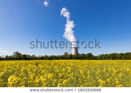 Stock photo: Cooling tower smoke