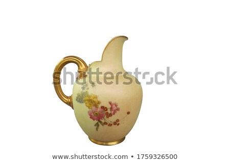 Ceramic jug and dishware Stock photo © ABBPhoto