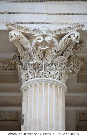 roman temple details in nimes provence france stock photo © bertl123
