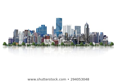 city skyline and path stock photo © zzve