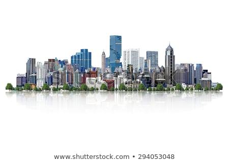 пути фон зданий городского архитектура Сток-фото © zzve