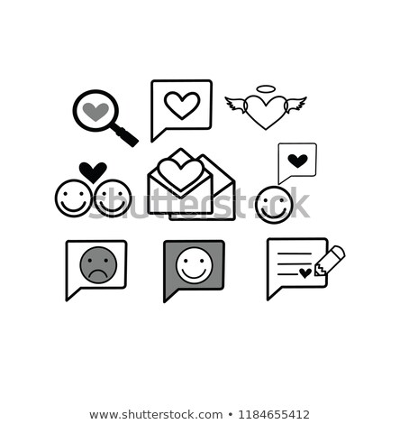 Set valentine's day buttons, love Internet symbols Stock photo © Ecelop