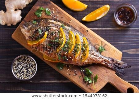 sea bream fish grilled stock photo © kuzeytac