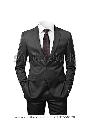 костюм элегантный черный изолированный белый бизнеса Сток-фото © smuki