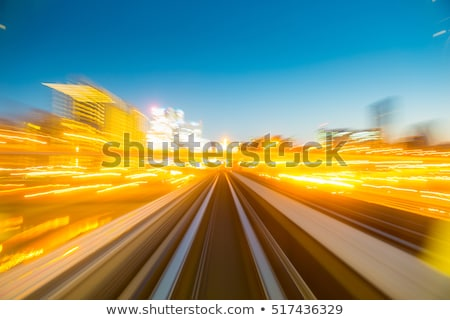 colorful underground subway train with motion blur stock photo © aetb