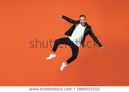 человека · джинсов · молодым · человеком · рубашку · Постоянный - Сток-фото © feedough