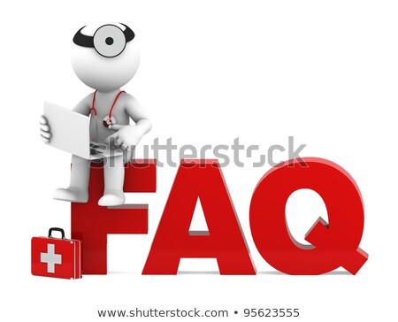 Medic sitting on FAQ sign. Frequently asked questions concept Stock photo © Kirill_M