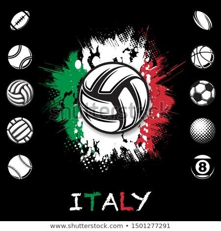 İtalyan voleybol takım yalıtılmış bayrak Stok fotoğraf © bosphorus