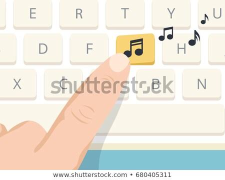 ключами · изображение · женщины · пальцы · компьютер - Сток-фото © stevanovicigor