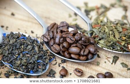 fotele · herbaty · pozostawia · bambusa · tabeli · drewna - zdjęcia stock © compuinfoto
