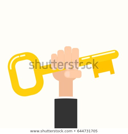 Kéz arany kulcs ház fém személy Stock fotó © oly5