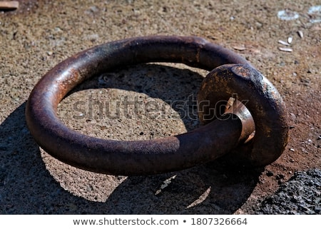 Large metal ring for mooring boat Stock photo © backyardproductions
