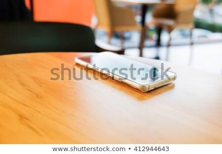 Сток-фото: Lost Phone On The Bench