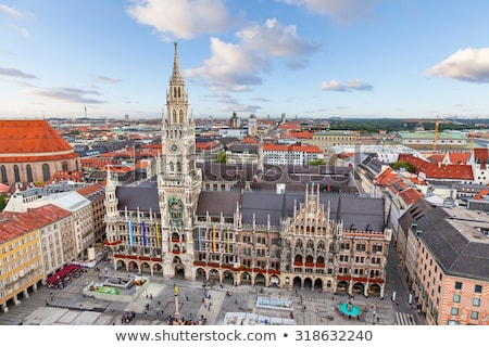 aerial view of the new town hall of munich stock photo © faabi