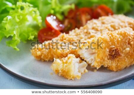 魚 パン粉 表 レモン ダイニング 食事 ストックフォト © M-studio