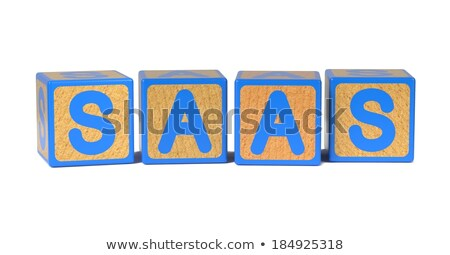 PAAS - Colored Childrens Alphabet Blocks. Stock photo © tashatuvango
