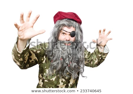 Сток-фото: смешные · солдата · изолированный · белый · фон · зеленый