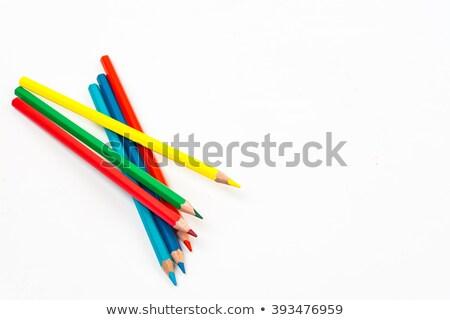 Crayon lápis monte isolado branco madeira Foto stock © natika