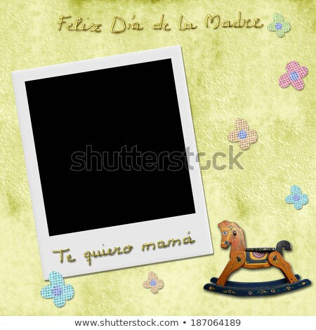 happy mothers day love you mom in spanish photo frame Stock photo © marimorena