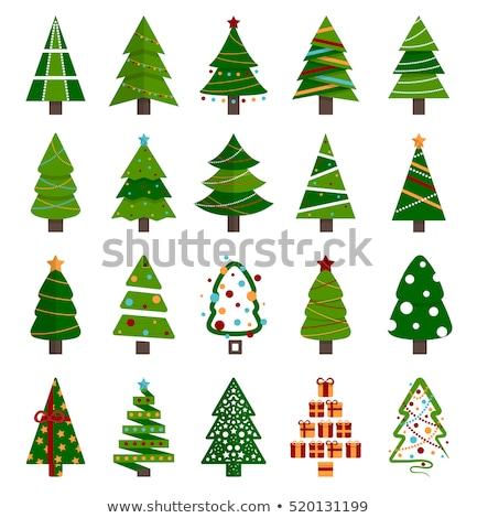 Christmas set different icons Stock photo © elenapro